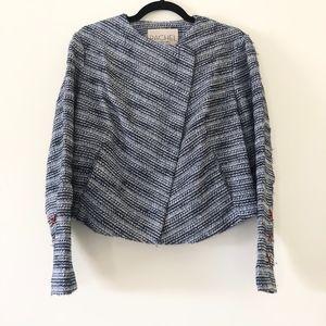 RACHEL Rachel Roy Blue Threaded cropped Jacket